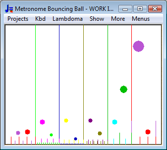 Bouncing Ball Metronome - single frame